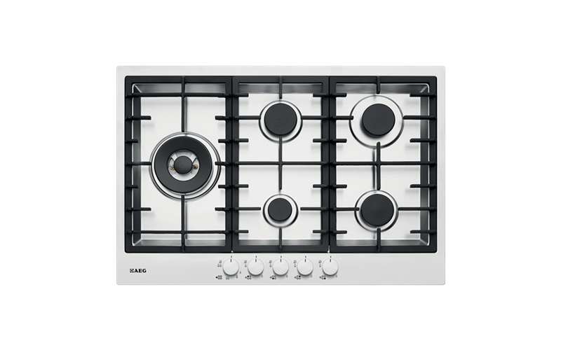 AEG 75cm Stainless Steel Gas Cooktop HG75FXA