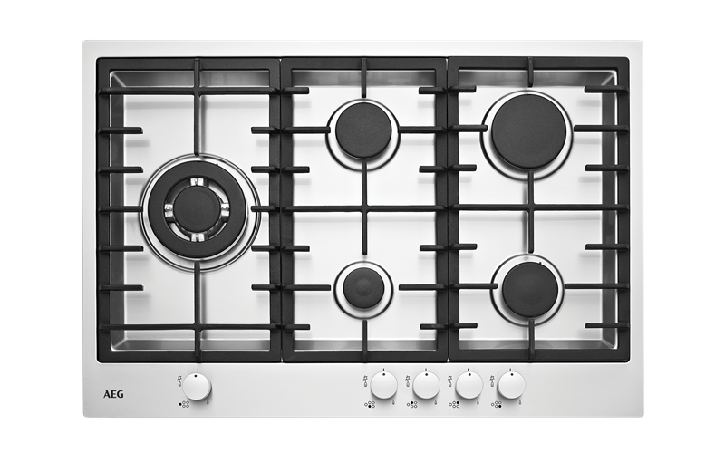 AEG 75cm 5 burner stainless steel gas cooktop HG75FXA