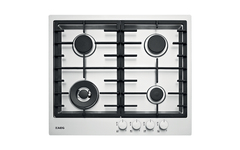 AEG 60cm Stainless Steel Gas Cooktop HG60FXA