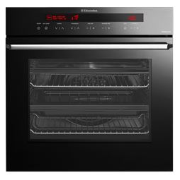 60cm Ebony 12 Multifunction Pyrolytic Single Oven