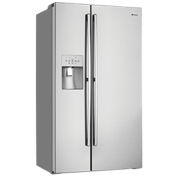 A 680L side by side refrigerator