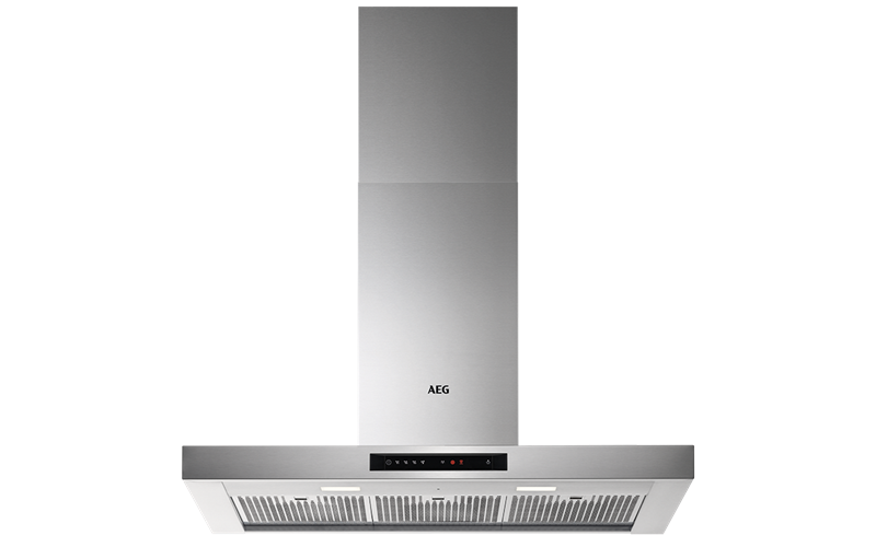 AEG 90cm Canopy Hood,Touch On Glass Ctrl,H2H  DBE6980HM