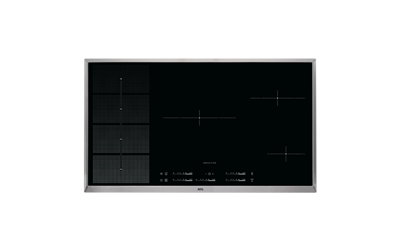 AEG 90cm 5 Zone Hob2Hood Induction Cooktop HKP95510XB