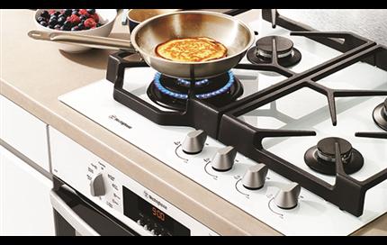 Chic white appliances as a design choice