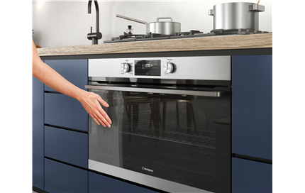Cooler to touch oven doors