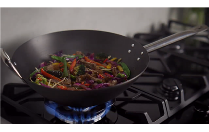 A hotter wok helps bring out the flavour