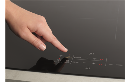 Easy touch-on glass control